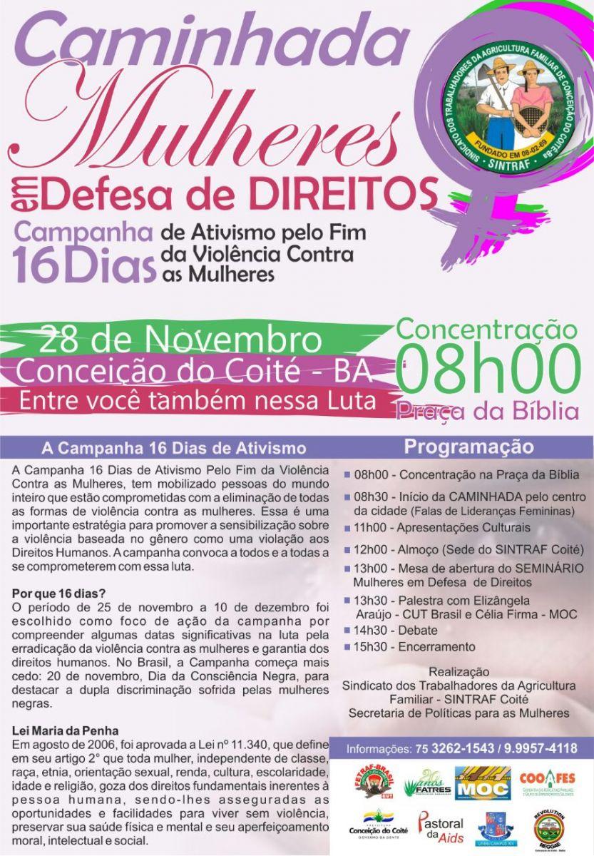Em razão da Campanha 16 Dias de Ativismo pelo Fim da Violência contra as  Mulheres 5fb8cbeb52b7